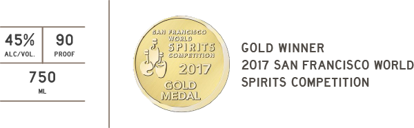 san francisco spirits competition gold 2017