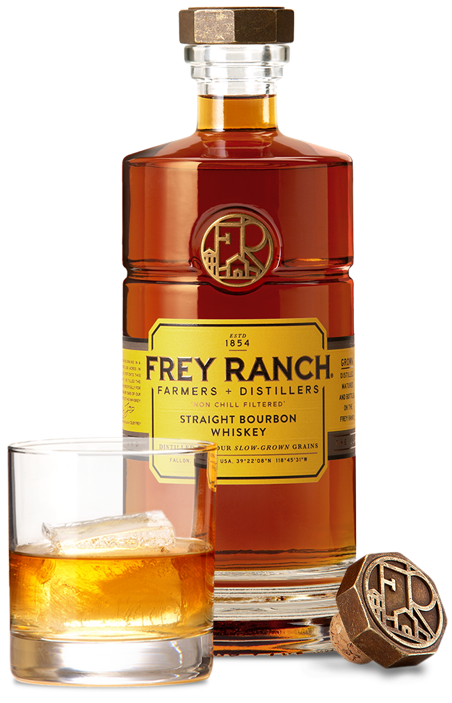 Frey Ranch Whiskey Bourbon on the Rocks