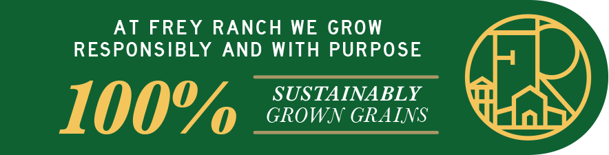 100% Sustainably Grown Grains